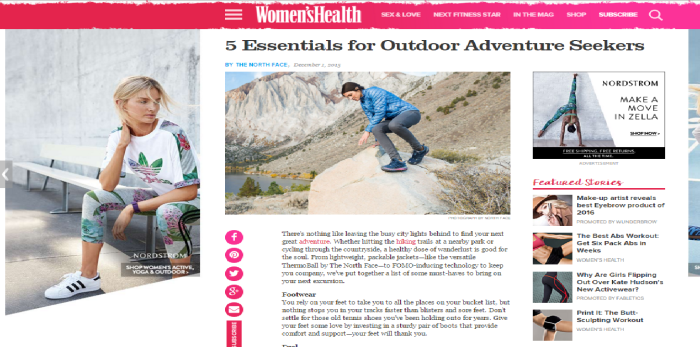 Women's Health North Face