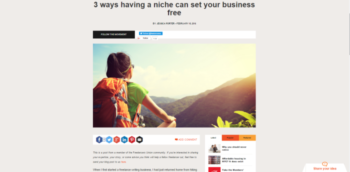 3 Ways Having a Freelance Niche Can Set Your Business Free
