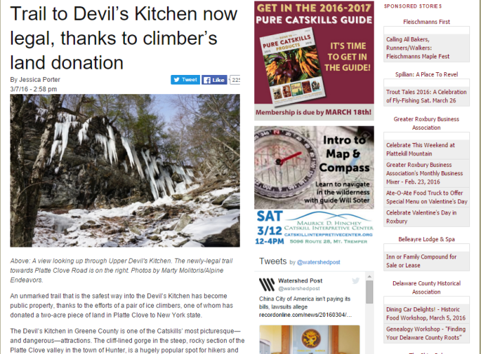 Trail to Devil's Kitchen Now Legal, Thanks to Climber's Donation